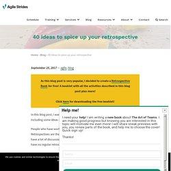 40 ideas to spice up your retrospective – Agile Strides
