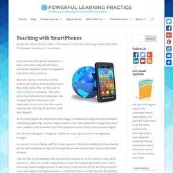 Some Ideas about Teaching with SmartPhones