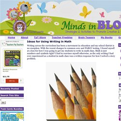 Minds in Bloom: Ideas for Using Writing in Math