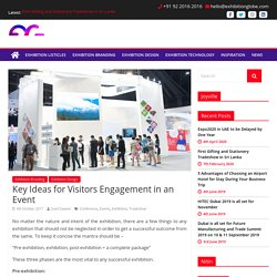 Key Ideas for Visitors Engagement in an Event