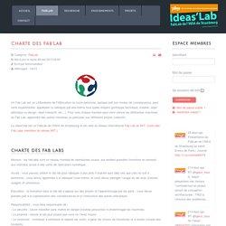 Ideaslab.fr - Innovation@insa - Charte FabLab