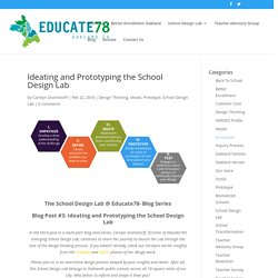 Ideating and Prototyping the School Design Lab - Educate78