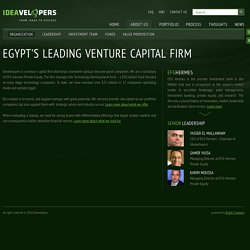 Ideavelopers - Venture Capital arm of EFG-Hermes