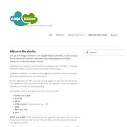 Idébank för skolan — Slöjd Håller