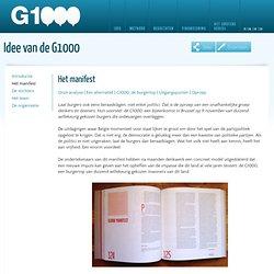 G1000 Het manifest