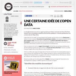 Une certaine idée de l'open data