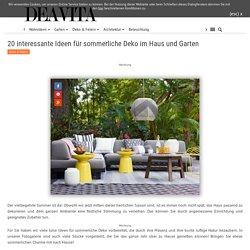 20 Ideen für sommerliche Deko im Haus und Garten