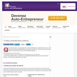 Id es de cr ation pearltrees for Idee metier auto entrepreneur