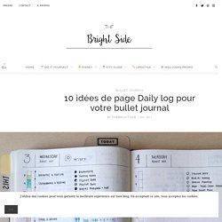 10 idées de page Daily log pour votre bullet journal !