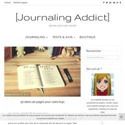 50 idées de pages pour votre bujo - Journaling Addict