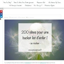 200 idées pour une bucket list d'enfer !