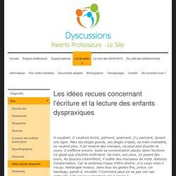 Idées reçues dyspraxie