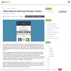 6 idées simples de contenu pour votre page « À propos »