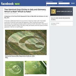 Two Identical Crop Circles in Italy and Germany. Which is Real? Which is Fake?