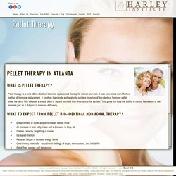 Professional Pellet Therapy in Atlanta