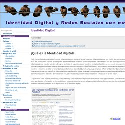 Identidad Digital - Identidad Digital y Redes Sociales con menores