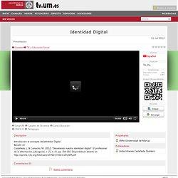 Identidad Digital - TV Universidad de Murcia