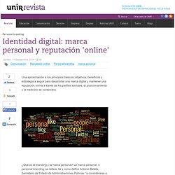 Identidad digital: marca personal y reputación 'online'