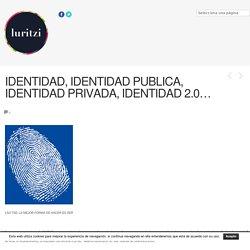 IDENTIDAD, IDENTIDAD PUBLICA, IDENTIDAD PRIVADA, IDENTIDAD 2.0… - Luritzi