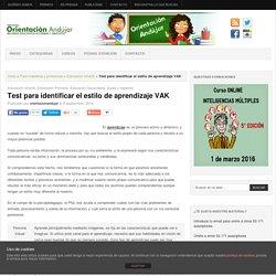 Test para identificar el estilo de aprendizaje VAK