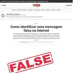 Como identificar uma mensagem falsa na internet