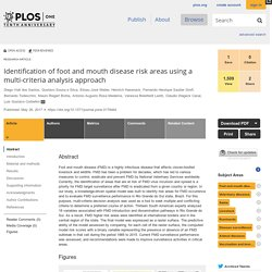 PLOS 26/05/17 Identification of foot and mouth disease risk areas using a multi-criteria analysis approach