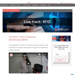 Live Hack: Radio Frequency Identification (RFID)