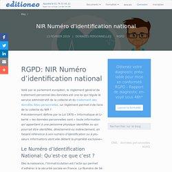 RGPD et NIR Numéro d'identification national