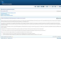 PARLEMENT EUROPEEN - Réponse à question : E-9769/2010 Identification électronique pour le secteur ovin et caprin