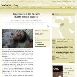 Identification des enfants morts dans la ghouta