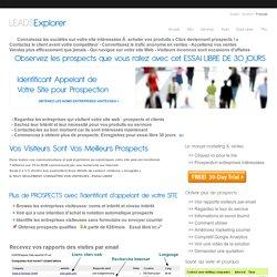 Génération prospect & CRM - Nom d'entreprise visiteur site web |