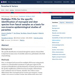 METHODOLOGY 18/03/20 Multiplex PCRs for the specific identification of marsupial and deer species from faecal samples as a basis for non-invasive epidemiological studies of parasites