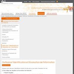 Outils pour l'identification et l'évaluation de l'information