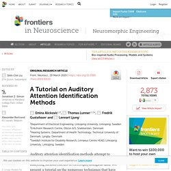 A Tutorial on Auditory Attention Identification Methods