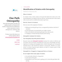 Identification of Sciatica with Osteopathy