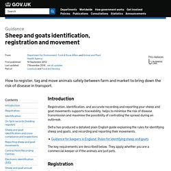 DEFRA - AHVLA - Sheep and goats.