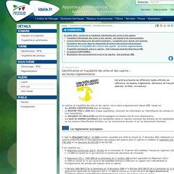 INSTITUT DE L ELEVAGE 17/11/15 Identification et traçabilité des ovins et des caprins : les textes règlementaires