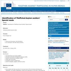 Identification of TRafficked Asylum seeKers' Special needs