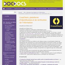 CrossCheck, plateforme d'identification et de vérification de l'information