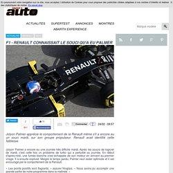 F1 - RENAULT AVAIT DEJA IDENTIFIE LE PROBLEME RENCONTRE PAR PALMER