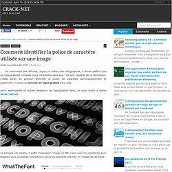 Comment identifier la police de caractère utilisée sur une image