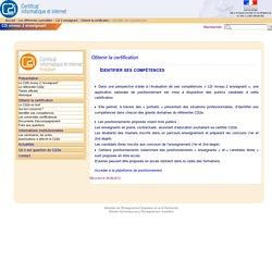 Identifier ses compétences - Portail C2i