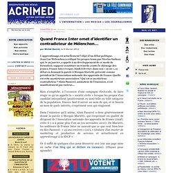 France Inter omet d'identifier un contradicteur de Mélenchon…