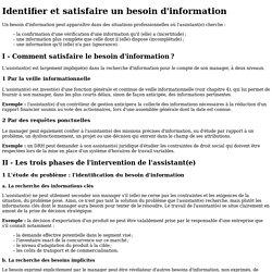 Fiche ressource 1 - Identifier et satisfaire unbesoin d'information