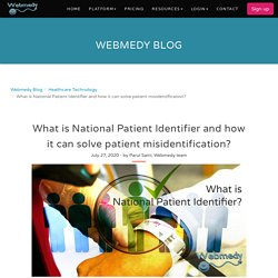 What is National Patient Identifier and how it can solve patient misidentification?