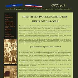 Identifier 01 numero kepi col GVC