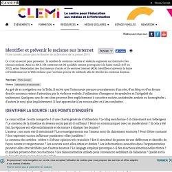 Identifier et prévenir le racisme sur Internet- CLEMI