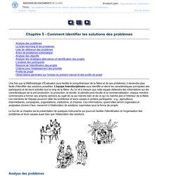 Chapitre 5 - Comment identifier les solutions des problèmes