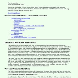 Univeral Resource Identifiers