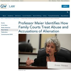 Professor Meier Identifies How Family Courts Treat Abuse and Accusations of Alienation